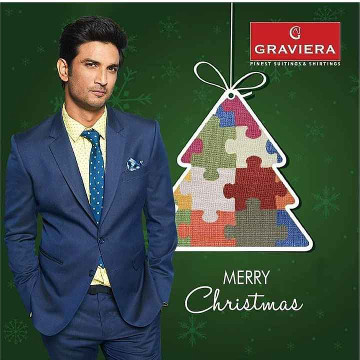 🎬 સુશાંત સિંહ રાજપૂત - GRAVIERA FINEST SUITINGS & SHIRTINGS MERRY Christmas - ShareChat