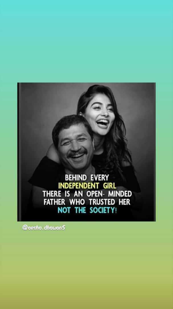 🎴 સ્ટેટ્સ ફોટો - BEHIND EVERY INDEPENDENT GIRL THERE IS AN OPEN - MINDED FATHER WHO TRUSTED HER NOT THE SOCIETY ! @ oesho . dhowuos - ShareChat