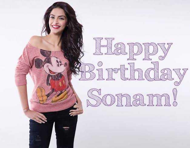 🍫 હેપી બર્થ ડે: સોનમ કપૂર - Happy y Birthday Sonam ! - ShareChat