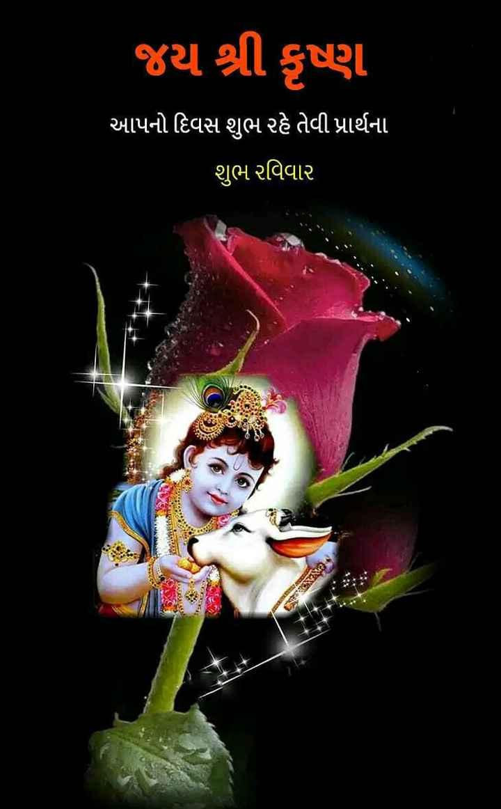 💐 હેપી રવિવાર - જય શ્રી કૃષ્ણ આપનો દિવસ શુભ રહે તેવી પ્રાર્થના શુભ રવિવાર - ShareChat