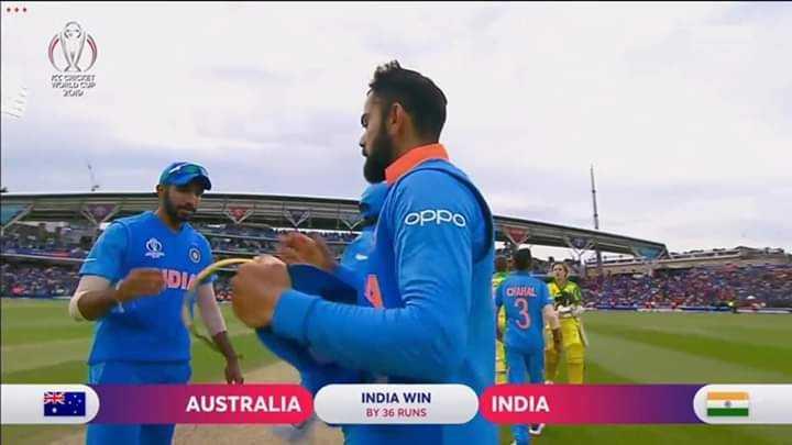 🇮🇳ଇଣ୍ଡିଆ vs ଅଷ୍ଟ୍ରେଲିଆ🇦🇺 - OPPO DI / CARRE AUSTRALIA INDIA WIN BY 36 RUNS INDIA - ShareChat