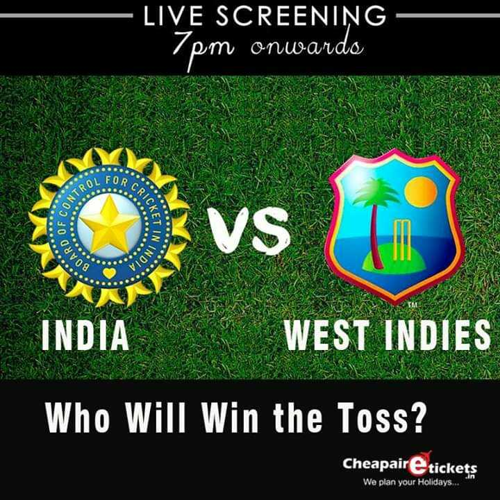 🏏ଇଣ୍ଡିଆ vs ୱେଷ୍ଟ ଇଣ୍ଡିଜ: ପ୍ରଥମ ଟି-ଟ୍ୱେଣ୍ଟି - LIVE SCREENING - 7pm onwardo AL FOR CRICK NTROL ovs KETIN BOARD NINDIA INDIA WEST INDIES Who Will Win the Toss ? Cheapaire tickets We plan your Holidays . . . - ShareChat