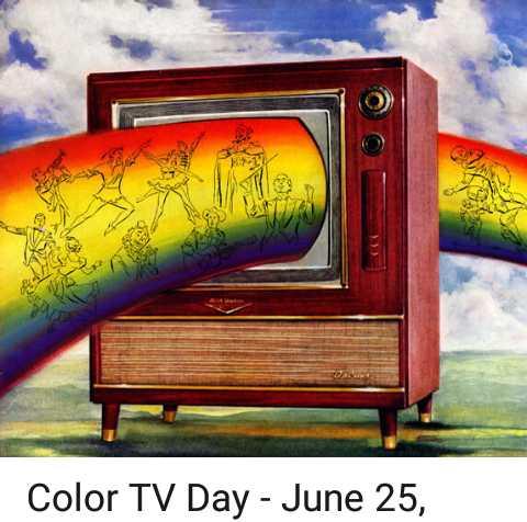 🖥କଲର ଟିଭି ଦିବସ - Color TV Day - June 25 , - ShareChat