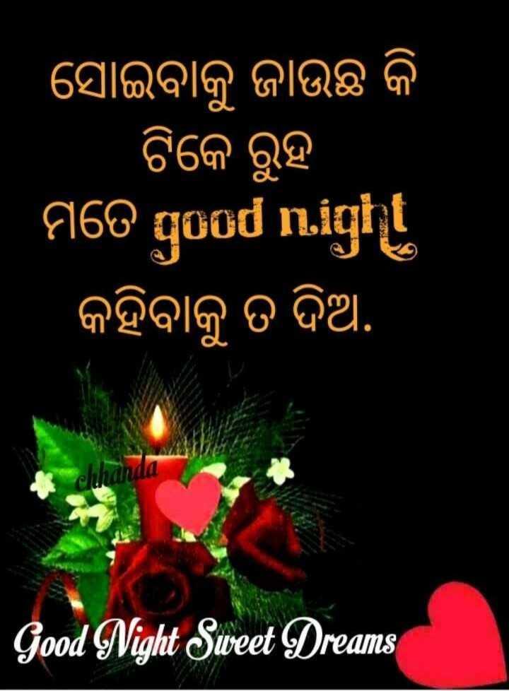 📝ଗୁଡ଼ ନାଇଟ ଶାୟରୀ - ସୋଇବାକୁ ଜାଉଛି କି ଟିକେ ରୁହ । ମତେ qUOd n . igi । କହିବାକୁ ତ ଦିଅ , chhanda Good Night Sweet Dreams - ShareChat