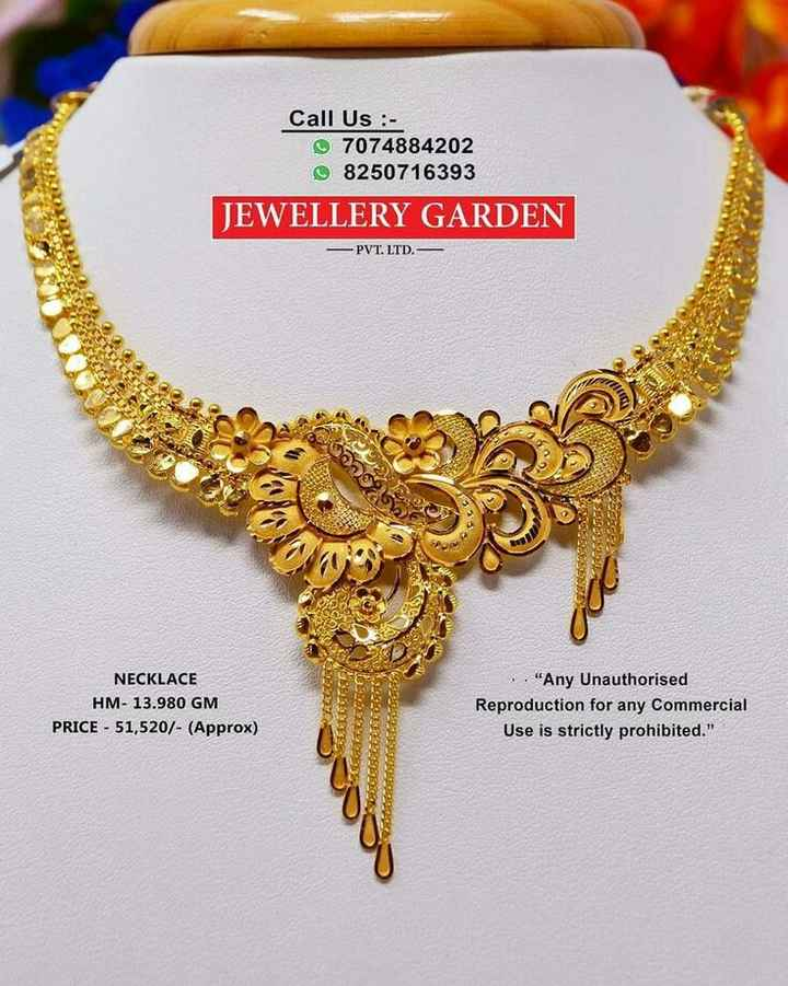 📿ଜୁଏଲରୀ ଡିଜାଇନ - Call Us : 7074884202 8250716393 JEWELLERY GARDEN - PVT . LTD . - 12 2100615 Ce NECKLACE HM - 13 . 980 GM PRICE - 51 , 520 / - ( Approx ) . . Any Unauthorised Reproduction for any commercial Use is strictly prohibited . - ShareChat