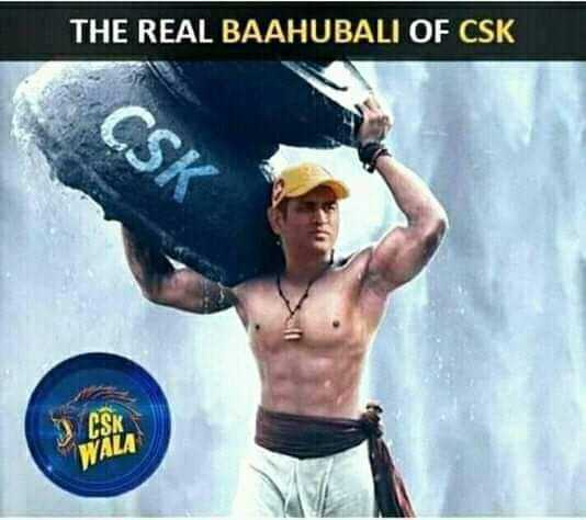 😍ଧୋନି ଫେନ - THE REAL BAAHUBALI OF CSK CSK VALA - ShareChat