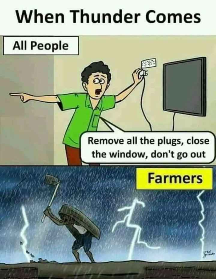 🚿 ବର୍ଷାଦିନ ସଚେତନତା - When Thunder Comes All People Remove all the plugs , close the window , don ' t go out Farmers - ShareChat