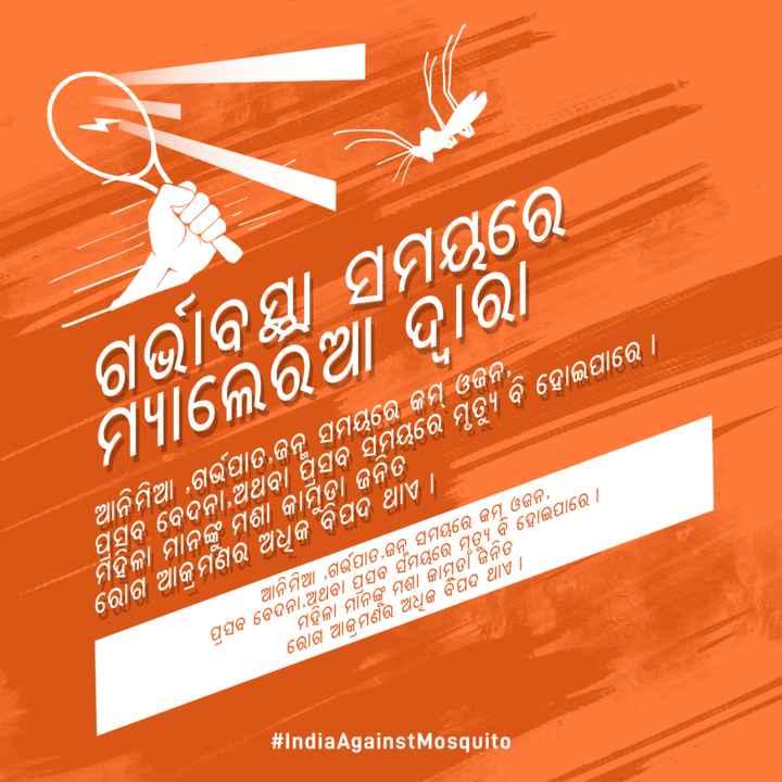 🦗ବିଶ୍ଵ ମଶା ଦିବସ - ଗର୍ଭାବସ୍ଥା ସମୟରେ ମ୍ୟାଲେରିଆ ଦାରା ଆନିମିଆ , ଗର୍ଭପାତ , ଜନ୍ମ ସମୟରେ କମ୍ ଓଜନ , ପ୍ରସବ ବେଦନା , ଅଥବା ପ୍ରସବ ସମୟରେ ମୃତ୍ୟୁ ବି ହୋଇପାରେ । ମହିଳା ମାନଙ୍କୁ ମଶା କାମୁଡ଼ା ଜନିତ । ରୋଗ ଆକ୍ରମଣର ଅଧୁକ ବିପଦ ଥାଏ | ଆନି ମିଆ , ଗର୍ଭପାତ , ଜନ ସମୟରେ କମ ଓଜନ , । ପ୍ରସବ ବେଦନା , ଅଥବା ପ୍ରସବ ର୍ସମୟରେ ମୃତ୍ୟୁ ବି ହୋଇପାରେ । | ମହିଳା ମାନଙ୍କ ମଶା କାମୁଡ ଜନିତ ରୋଗ ଆ ମର ଅଧିକ ବିପଦ ଥାଏ | # India Against Mosquito - ShareChat