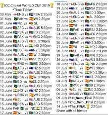 📆ବିଶ୍ୱକପ କାର୍ଯ୍ୟସୂଚୀ - FICC Cricket WORLD CUP 2019 18 June ENG AF 220m Time Table 19 June Z VSRSA 2 : 30pm 20 June USD 230pm 30 May - - ENG Y FURSA 230pm 21 June - ENGV Fesl 2 : 30pm 31 May IPAK V IWI 2 : 30pm 22 June 2LIND AFG 230pm 01 Jure NZ V SL O ne DIAFGVS REALS 5 30pm 22 June WI NZ 5 : 30pm 23 June OPAK VS RSA 2 : 30pm 02 June SA V AD 2 : 30 pm 24 Juneo vs FG 2 : 30pm 03 PAK VS + ENG 2336 E NDYSIAL . 230 04 June AFG vs TSL 2 . 30pm 26 June UPAK VENZ 2300m 05 June ESAVS LIND 2 . 30pm 27 . Junew 05 JuneID VS NZ 5 . 30pm 28 June SL VERSA 2 : 30pm 06 June BAUS W I 2 30pm 29 . June pak v EFG 2 : 30pm 07 June PAK V SL 2 . 30pm 29 . June NZ VS AUS 5 : 30pm June + ENG BD 2 . 30pm 30 June + ENGV EIND 2 30pm 08 JuneDAFG V ANZ 5 30pm 01 My SL vs DEWI 2 . 90 09 June IND VS AUS 230pm 02 July 1880 . VS ND 2 . 30pm 10 June SA vs WI 2 . 30pm 00 . July + ENG V N 2 pm 11 Junea va SL 2300m 04 July AFGV WI 2 . 30pm 12 June PAK VARAS 2 - 3m 05 July PAK vs 02 : 30pm 13 June 2ND V NZ 230pm 06 July TSL v IND 2 . 30pm 14 June + ENG W I 2 : 30pm 06 July US VERSA 2 : 30pm 15 June SL vs ALS 230pm 0 July 19 Semi Final 2 . 30pm 11 July 2nd Semi Final 20 15 June FRSA VS DIAFG 530pm 6 PAK 14 July * The FINAL IND2 230pm : 30pm w ith a friends 17 June WI vs AD 7 300m - ShareChat