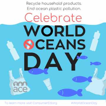 💧ବିଶ୍ୱ ମହାସାଗର ଦିବସ - Recycle household products . End ocean plastic pollution Celebrate WORLD CEANS DAY on ace To learn more visit Consumer Edorg WorldOceanDay - ShareChat