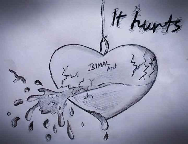🏔ମୋ ଚିତ୍ରକଳା - It hurts BIMAI Art - ShareChat