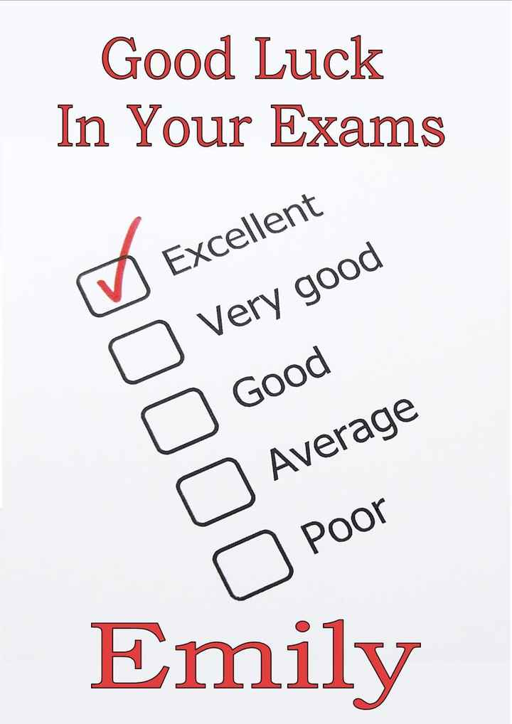 ଯୁକ୍ତ ଦୁଇ ପରୀକ୍ଷା 2019 - Good Luck In Your Exams o ♡ Excellent Very good o Good Average o Poor Emily - ShareChat