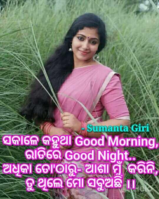 💝ଲଭ୍ ଶାୟରୀ - - Sumanta Giri ସକାଳେ କହୁଥା Good Morning , ରାତିରେ Good Night . ଅଧୁକା ତୋ ' ଠାରୁ - ଆଶା ମୁଁ କରିନି , ତୁ ଥିଲେ ମୋ ସବୁଅଛି । - ShareChat