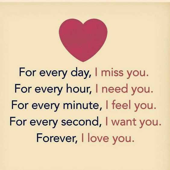 💝ଲଭ୍ ଶାୟରୀ - For every day , I miss you . For every hour , I need you . For every minute , I feel you . For every second , I want you . Forever , I love you . - ShareChat