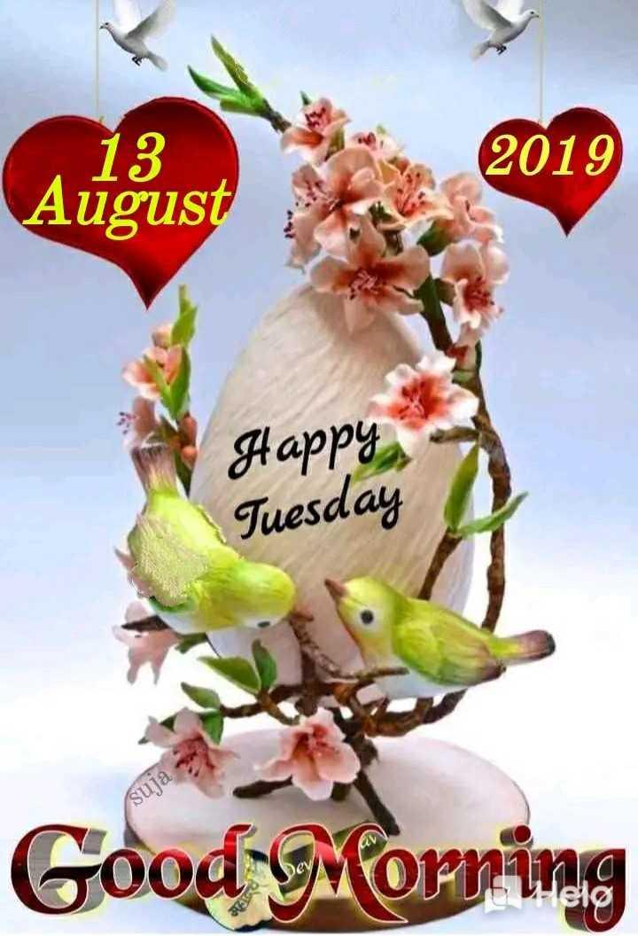 🌸ଶୁଭ ମଙ୍ଗଳବାର - 13 August 2019 Happy Tuesday suja Good Morning - ShareChat