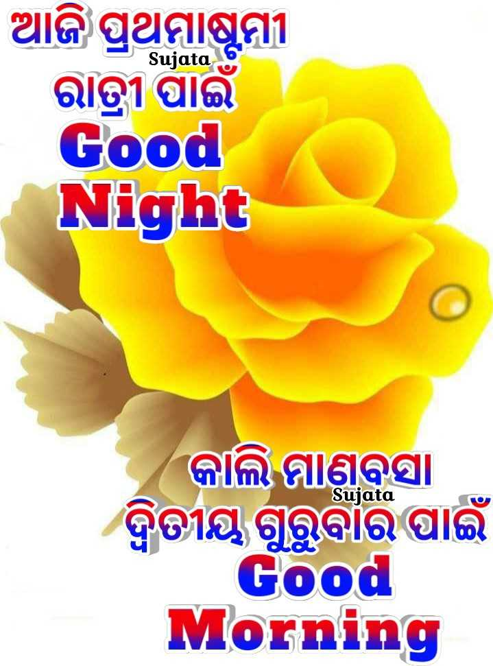 🌛ଶୁଭରାତ୍ରୀ - Sujata ଆଜି ପ୍ରଥମାଷ୍ଟମୀ ରାତ୍ରୀ ପାଇଁ Good Night Sujata କାଲି ମାଣବସା ଦ୍ବିତୀୟ ଗୁରୁବାର ପାଇଁ Good Morning - ShareChat