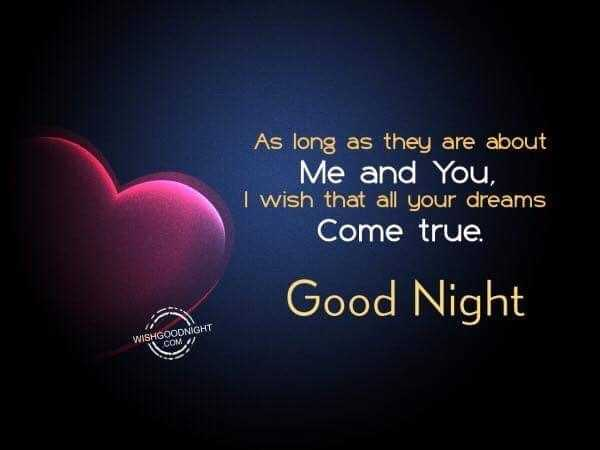 🌛ଶୁଭରାତ୍ରୀ - As long as they are about Me and You , I wish that all your dreams Come true . Good Night WISHGOODNIGHT COM - ShareChat
