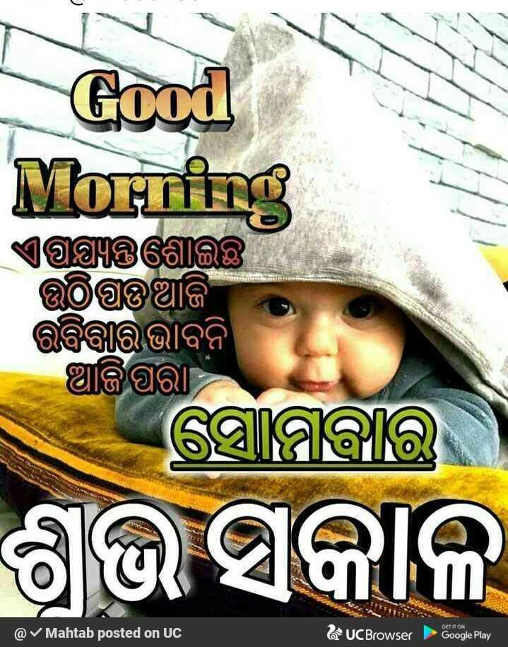 💐ଶୁଭ ସୋମବାର - Good Morning ଏପଷ୍ୟନ୍ତଗୋଇଛି । । ଏଥିପଆଜି ରବିବାର ଭାବନି ଆଜିପରା ସୋମବାର ଶୁଭ ସକାଳ GET IT ON @ Mahtab posted on UC UC Browser Google Play - ShareChat