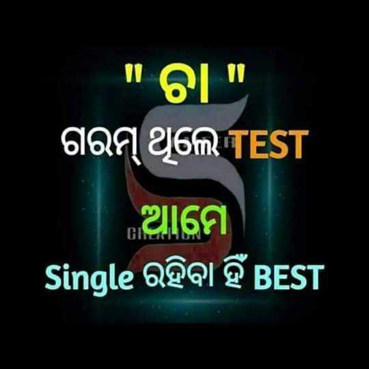 🤟ସିଙ୍ଗଲ ଲାଇଫ ବେଷ୍ଟ ଲାଇଫ - ବା ଗରମ୍ ଥିଲେ TEST ଆମେ Single ରହିବା ହିଁ BEST - ShareChat