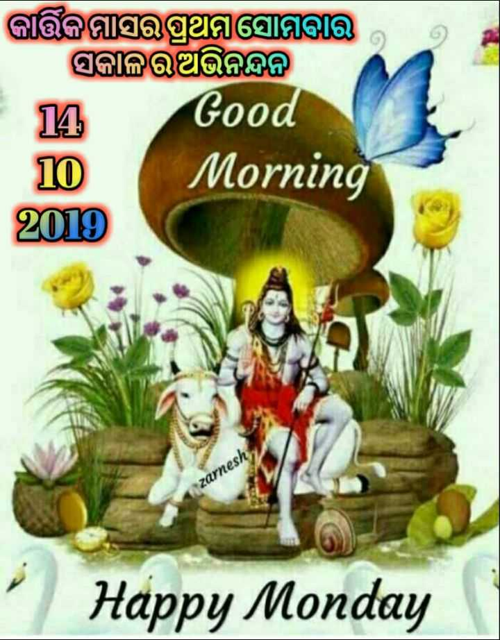 🌞ସୁପ୍ରଭାତ - କାକସରପ୍ରଥମ ସୋମବାର । ସକାଳଅଭିନନ୍ଦନ୍ଧ ୟ Good Morning 2 T0 zarnesh Happy Monday - ShareChat