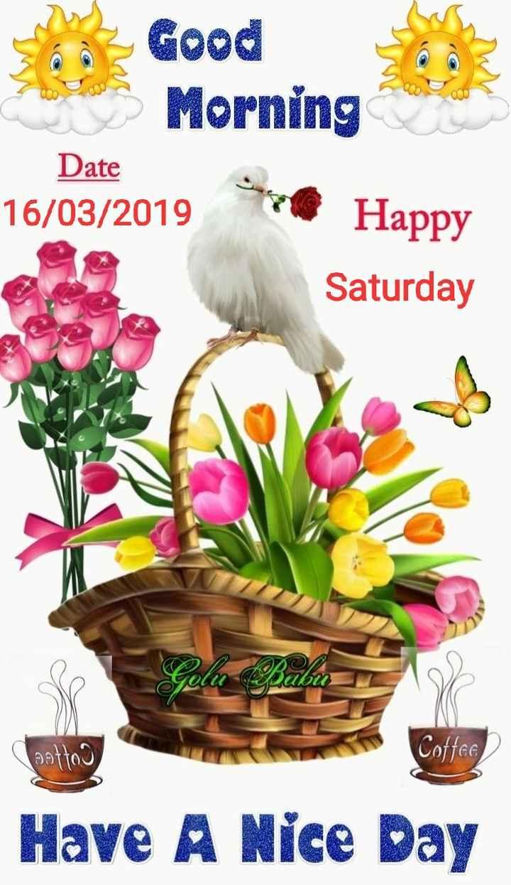 🌞ସୁପ୍ରଭାତ - Good Morning Date 16 / 03 / 2019 Saturday Se Golu Babes otto Have A Nice Day - ShareChat