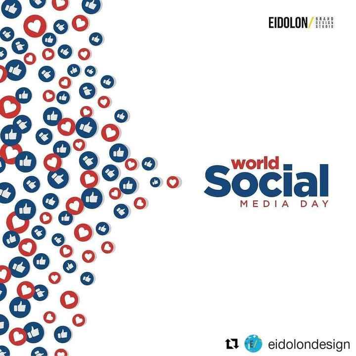 ସୋସିଆଲ ମିଡିଆ ଦିବସ - EIDOLON BRAND DESIGN STUD10 0 000° & 000 og world Social MEDIA DAY O O O 7 eidolondesign - ShareChat