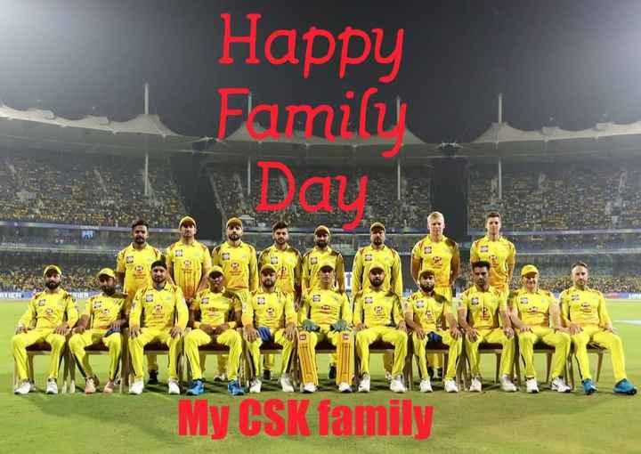 🏏அடுத்த IPL-ல் தோனி - Happy Family Day , RRIER IKILIMH0717 ) . My CSK family - ShareChat