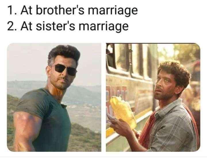 👫 அண்ணன் - தங்கை - 1 . At brother ' s marriage 2 . At sister ' s marriage - ShareChat