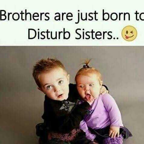 👫 அண்ணன் - தங்கை - Brothers are just born to Disturb Sisters . . - ShareChat