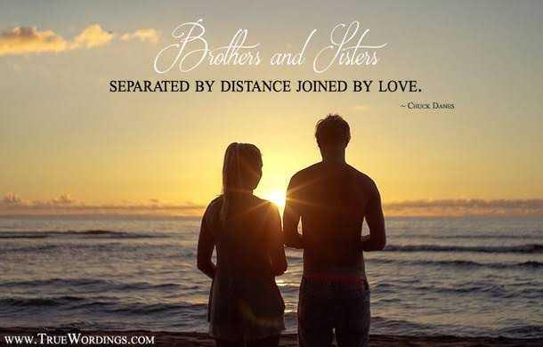 👫 அண்ணன் - தங்கை - * Biothers and Solens SEPARATED BY DISTANCE JOINED BY LOVE . - Chuck DANES www . TRUEWORDINGS . COM - ShareChat