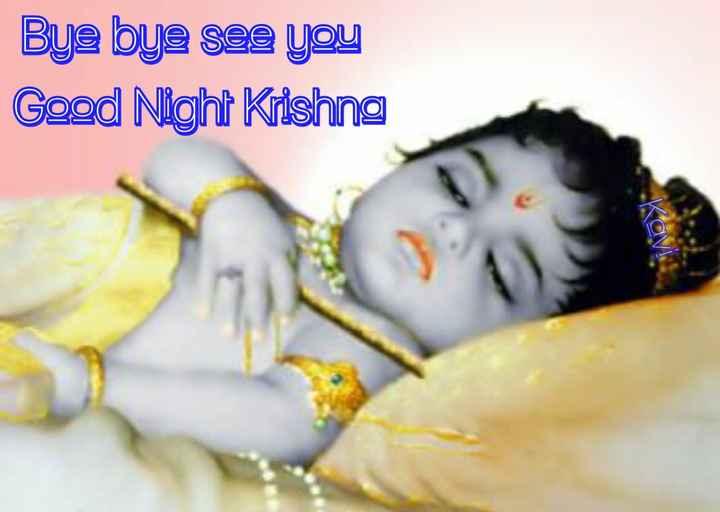 🌙இரவு வணக்கம் - Bye bye see you Good Night Krishna - ShareChat