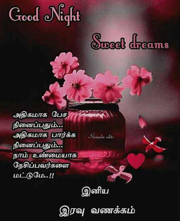 🌙இரவு வணக்கம் - Good Night Sweet dreams அதிகமாக பேச நினைப்பதும் . . . அதிகமாக பார்க்க Nirmala editz நினைப்பதும் . . . நாம் உண்மையாக நேசிப்பவர்களை மட்டுமே . . ! ! - இனிய இரவு வணக்கம் - ShareChat