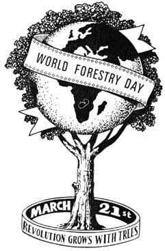 உலக காடுகள் தினம்🌳 - WORLD FORESTRY DAY * * * * * + 0000 MARCH REVOLUTION OR Y GROWS WITH TREES - ShareChat