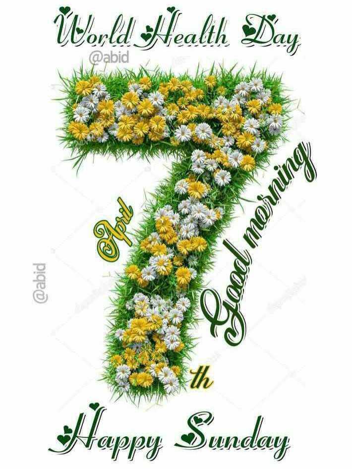 உலக சுகாதார நாள் - World Health Day @ abid Bood morning @ abid Happy Sunday - ShareChat