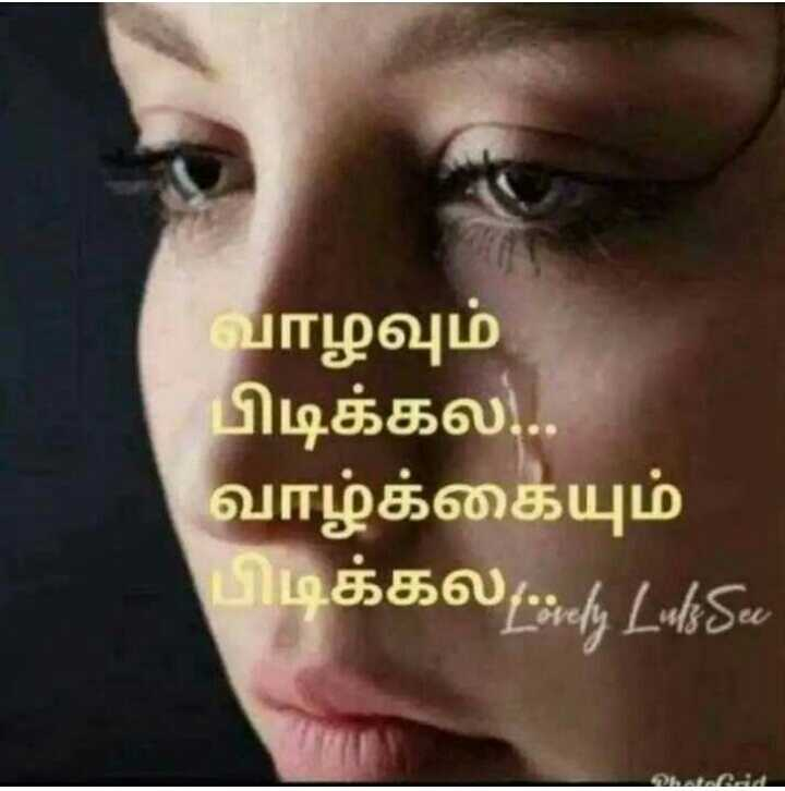 🚹உளவியல் சிந்தனை - வாழவும் பிடிக்கல . . . வாழ்க்கையும் பிடிக்க லcial LukSo - ShareChat