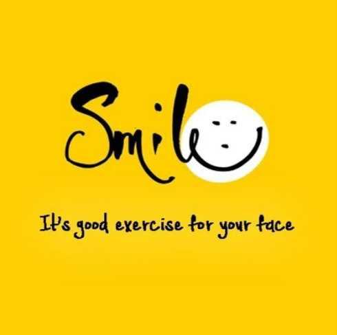 😉எமோஜி தினம் - Smile It ' s good exercise for your face - ShareChat