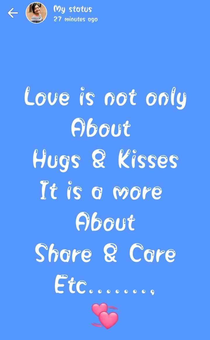 💑 காதல் ஜோடி - My status 27 minutes ago Love is not only About Hugs & Kisses It is a more About Share & Care Etc . . . . - ShareChat