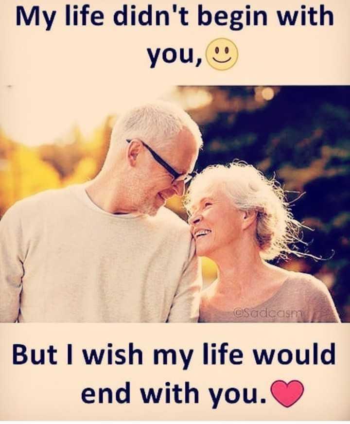 💑 காதல் ஜோடி - My life didn ' t begin with you , @ Sadeasm But I wish my life would end with you . - ShareChat