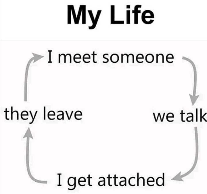 💔 காதல் தோல்வி - My Life > I meet someone they leave we talk L I get attached - ShareChat