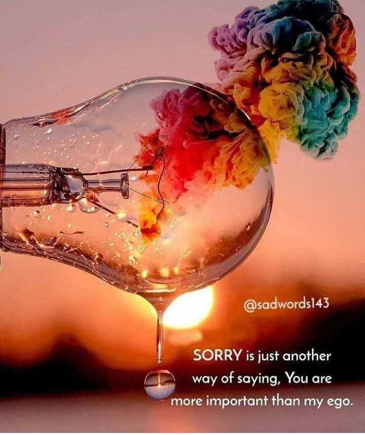 💔 காதல் தோல்வி - @ sadwords143 SORRY is just another way of saying , You are more important than my ego . - ShareChat