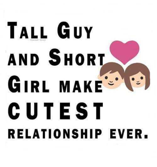 💕 காதல் ஸ்டேட்டஸ் - TALL GUY AND SHORT GIRL MAKEO ) CUTEST RELATIONSHIP EVER . - ShareChat