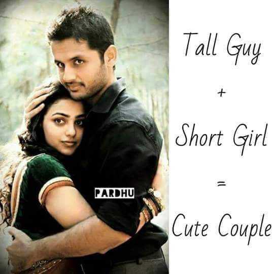 💕 காதல் ஸ்டேட்டஸ் - Tall Guy Short Girl PARDHU * Cute Couple - ShareChat