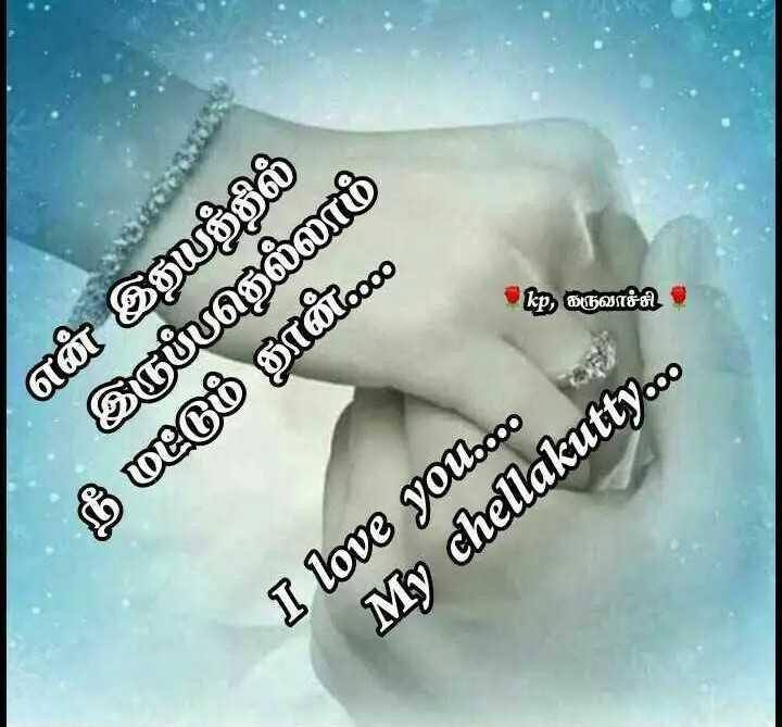 😉 காதல் ஸ்டேட்டஸ் - pே கருவாச்சி என் இதயத்தில் இருப்பதெல்லாம் நீ மட்டும் தான் I love you . . oo My chellakutty . co - ShareChat