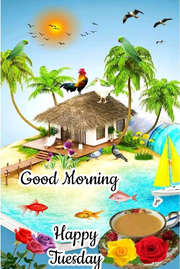 🌞காலை வணக்கம் - Good Morning Happy Tuesday - ShareChat