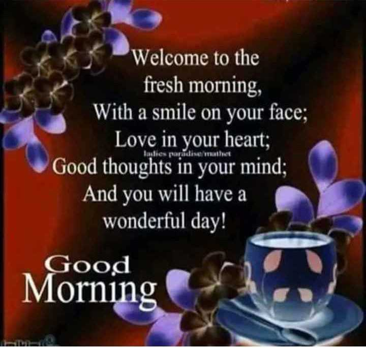 🌞காலை வணக்கம் - Welcome to the fresh morning , With a smile on your face ; Love in your heart ; Good thoughts in your mind ; And you will have a wonderful day ! paradise Good Morning - ShareChat