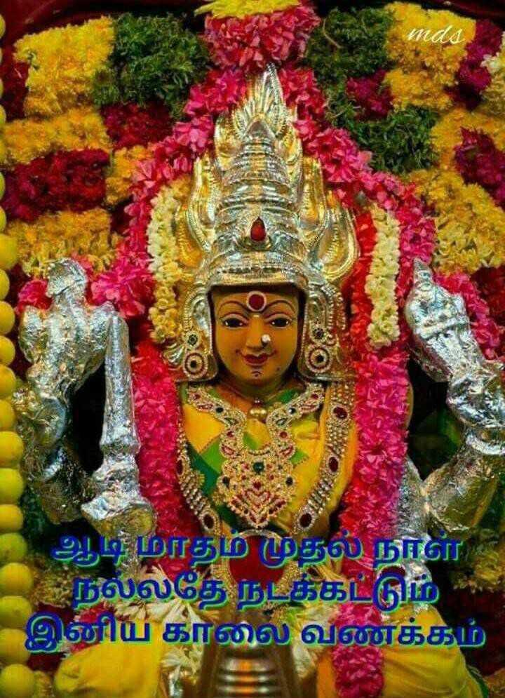 🌞காலை வணக்கம் - 5 . ' ஆடிமாதம் முதல் நாள் நல்லதே நடக்கட்டும் இனிய காலை வணக்கம் - ShareChat