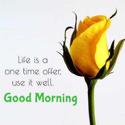 🌞காலை வணக்கம் - Life is a one time offer use it well . Good Morning - ShareChat