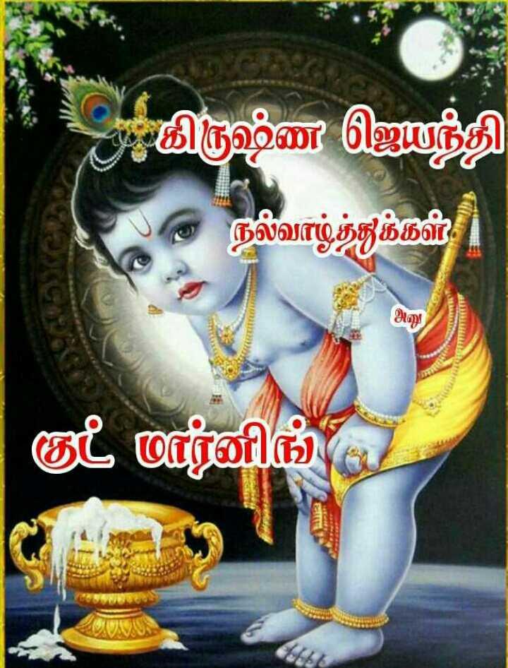 🌞காலை வணக்கம் - 2 அ கிருஷ்ண ஜெயந்தி & நல்வாழ்த்துக்கள் | குட் மார்னிங் ( 2 ) - ShareChat