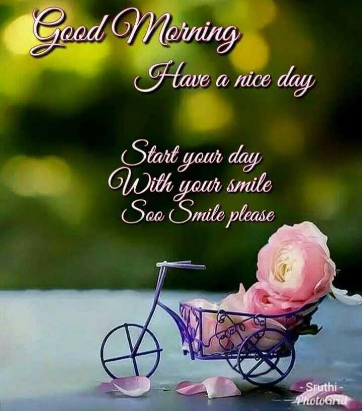 🌞காலை வணக்கம் - Good Morning Have a nice day Start your day With your smile Seo Smile please - Sruthi - - Photo - ShareChat