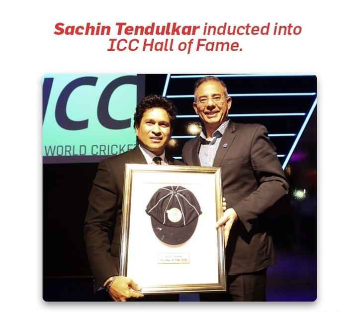 🏏 கிரிக்கெட் - Sachin Tendulkar inducted into ICC Hall of Fame . Icces WORLD CRICKS - ShareChat